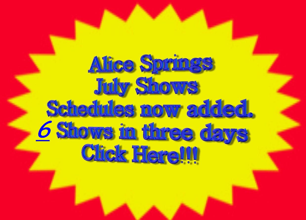 Alice Springs July Show Weekend!